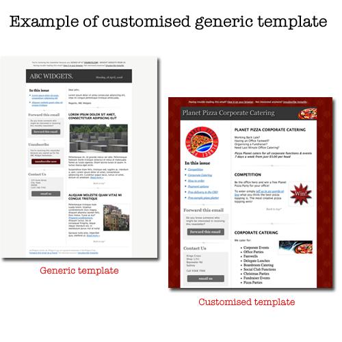 customised generic template
